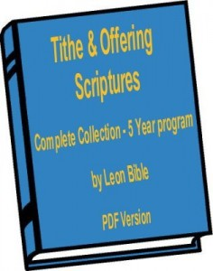 Complete Tithe and Offering Scriptures E-Book