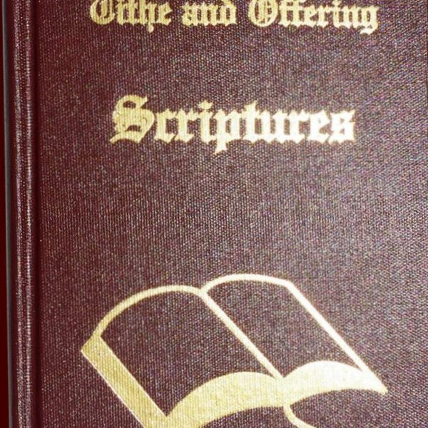 Tithe and Offering Scriptures Book